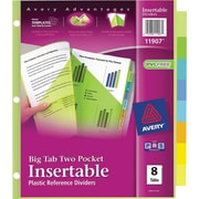 Avery® 11907 Big Tab™ Two Pocket Insertable Plastic Divider, 8 Tab