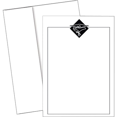 Great Papers­­® Black Grad Hat Invitations with Envelopes