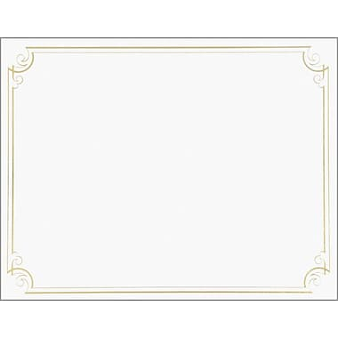 Great Papers­­® Golden Scroll Frame Foil Certificate