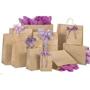 Natural Kraft Shopping Bags, Size 8 W x 4-3/4  D x  10-1/2 H