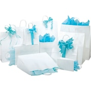 White Shopping Bags, Size 8 W x 4-3/4  D x  10-1/2 H