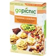 GoPicnic Ready-To-Eat-Meals, Hummus + Crackers, 4.4 oz. Packs, 6 Packs/Box