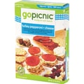 GoPicnic Ready-To-Eat-Meals, Turkey Pepperoni + Cheese, 3 oz. Packs, 6 Packs/Box