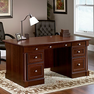 Sauder Palladia Collection Executive Desk, Select Cherry