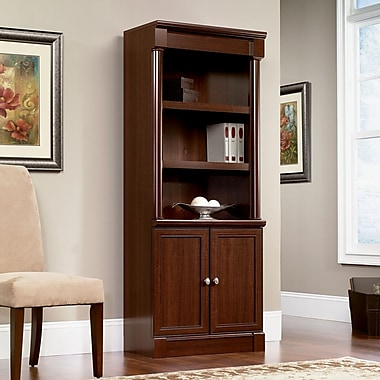 Sauder® Palladia Collection Library With Doors, Select Cherry