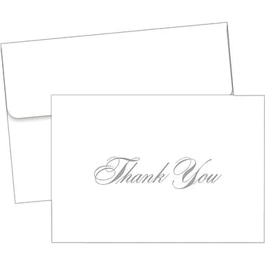 Silver Metallic Thank You Notes with Envelopes