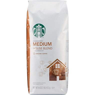 Starbucks® House Blend Ground Coffee, Regular, 1 lb. Bag