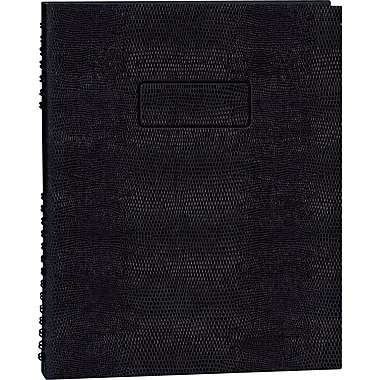 Blueline NotePro Business Notebook, Black Hard Lizard Look Cover, Twin-Wire binding, 150 Pages / 75 Sheets, 9-1/4