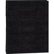 "Blueline NotePro Business Notebook, Black Hard Lizard Look Cover, Twin-Wire binding, 150 Pages / 75 Sheets, 9-1/4"" x 7-1/4"""