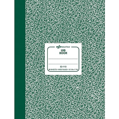 National® Brand Lab Notebook, Green, 7-7/8