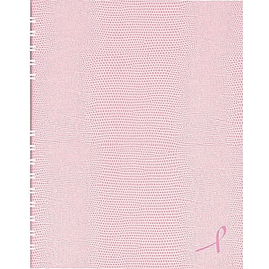 Blueline NotePro Business Notebook, Pink Hard Lizard Look Cover, Twin-Wire binding, 150 Pages / 75 Sheets, 9-1/4