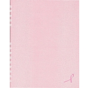 "Blueline NotePro Business Notebook, Pink Hard Lizard Look Cover, Twin-Wire binding, 150 Pages / 75 Sheets, 9-1/4 ""x 7-1/4"""