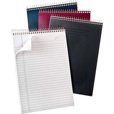 Ampad® Gold Fibre® Poly Cover Top-Wirebound Pad, Planner Ruled, 70 Sheets/Pad, 8-1/2in. x 11-3/4in.