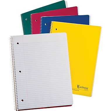Ampad Envirotec Recycled Wirebound 1 Subject Notebook, 8-1/2in. x 11in.