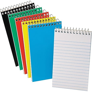 Ampad Pocket Wirebound Notebook, Narrow Ruled, Top-Open, 5in. x 3in.