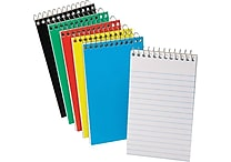 Ampad® Pocket Wirebound Notepad, Narrow Ruled, Top-Open, 5' x 3'
