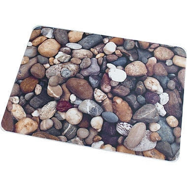 Floortex Pebbles 48''x48'' Polycarbonate Chair Mat for Hard Floor, Rectangular (229220ECPB)