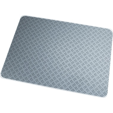 Floortex® Ripple Grey Polycarbonate Chair Mat, Rectangular, 36