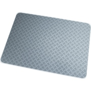 Floortex® Ripple Grey Polycarbonate Chair Mat, Rectangular, 36x48