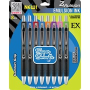 Zebra® Retractable Z-Mulsion EX Ballpoint Pen, 1 mm Medium, Assorted, Each