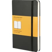"Moleskine Classic Notebook, Pocket, Ruled, Black, Hard Cover, 3-1/2"" x 5-1/2"""