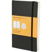 Moleskine Classic Notebook, Pocket, Ruled, Black, Soft Cover, 3-1/2 x 5-1/2