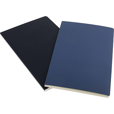 Moleskine Volant Notebook, Set of 2, Large, Ruled, Antwerp Blue, Prussian Blue, Soft Cover, 5in. x 8-1/4in.