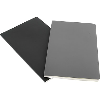 Moleskine Volant Notebook, Set of 2, Large, Ruled, Slate Grey, Payne's Grey, Soft Cover, 5in. x 8-1/4in.
