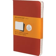 "Moleskine Cahier Journal, Set of 3, Pocket, Ruled, Cranberry Red, Soft Cover, 3-1/2"" x 5-1/2"""