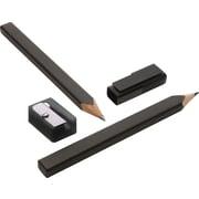 Moleskine Black Pencil Set, Set of 2 + Sharpener, Black, Tip 3mm