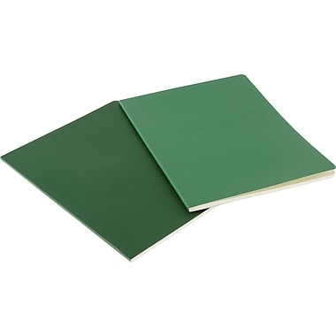Moleskine Volant Notebook, Set of 2 , Large, Ruled, Emerald Green, Oxide Green, Soft Cover, 5in. x 8-1/4in.