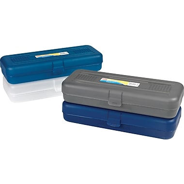 Staples® XL Pencil Box, Assorted Colors