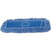 "O'Dell® Dry Looped-End Dust Mop Pads, 36"" x 5"", Blue"