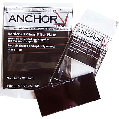 Anchor Brand® Filter Plate, 5 1/4 in (L) x 4 1/2 in (W), Green, #12 Shade