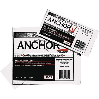 Anchor Brand® Cover Lens, 4 1/4 in (L) x 2 in (W), 100% CR-39 Plastic