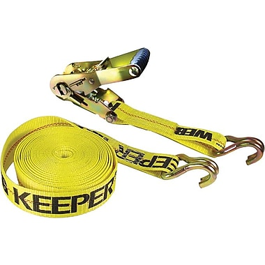 Keeper® Ratchet Tie-Down Strap, Double-J Hook Style, 27 Feet (L) x 2 in (W)
