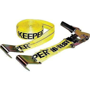 Keeper® Ratchet Tie-Down Strap, Flat Hook Style, 27 Feet (L) x 2 in (W), 3333 lbs.