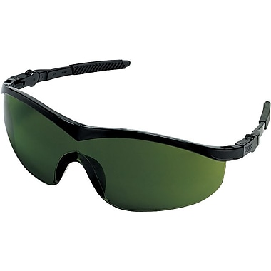 MCR Safety ANSI Z87.1 Storm® Safety Glasses, Green, 5.0 Shade