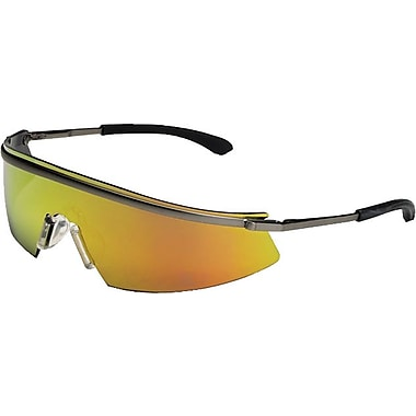 MCR Safety ANSI Z87.1 Triwear® Safety Glasses, Blue Diamond Mirror
