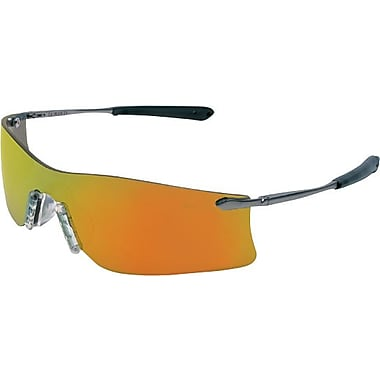 MCR Safety® ANSI Z87 Rubicon Crews Protective Glasses, Emerald Green