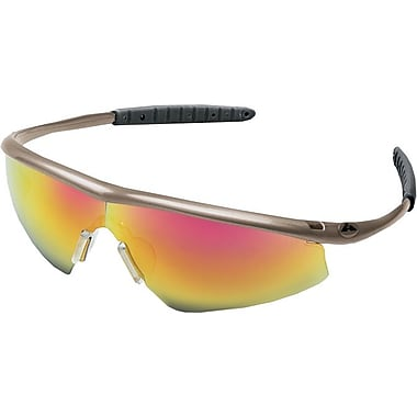 MCR Safety ANSI Z87.1 Tremor® Safety Glasses, Blue Diamond Mirror