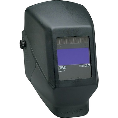 Jackson® Shadow® EQC® Master® Series W50 Welding Helmet, 1 3/4 in (W) x 3 3/4 in (L) Window, #9 - 12 Shade