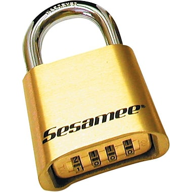 Sesamee® 5/16 in Diameter x 1 in Inner (W) Shackle Series Marine Keyless Padlocks