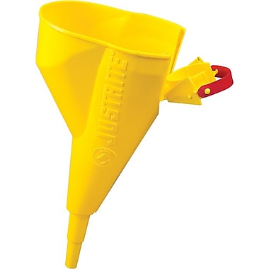 JUSTRITE® No Cover Polyethylene Funnel, 0.5 in Neck (OD) x 11.25 in Neck (L)
