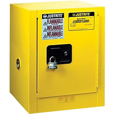 Sure-Grip® Yellow Countertop Compact Cabinet, 4 Gallon, 22 in (H) x 17 in (W) x 17 in (D)