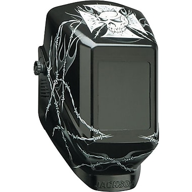 Jackson HellRaiser™ Series W10 Passive Welding Helmet, 4 1/2 in (W) x 5 1/4 in (L) Window, #10 Shade