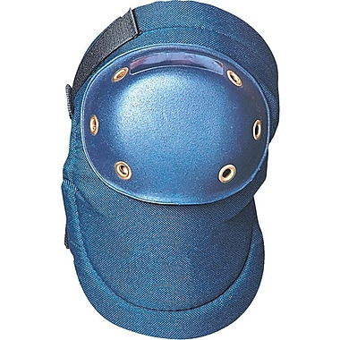 OccuNomix Value Contoured Blue Knee Pad, Hard Plastic Cap, Adjustable Velcro