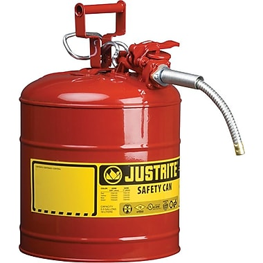 AccuFlow™ Type II Galvanized Steel Red Safety Cans, 11.75 in (OD) x 17.5 in (H), 0.625 IN Hose (OD)
