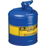 JUSTRITE® Type I Galvanized Steel Blue Safety Can, 11.75 in (OD) x 16.875 in (H)