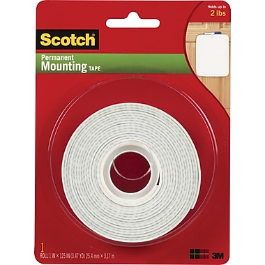 Scotch® Permanent Mounting Tape, 1in. x 125in.
